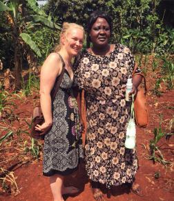 Liz Lunn and Mary Kisingo